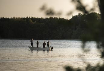 Angler am Grossen Lychensee.